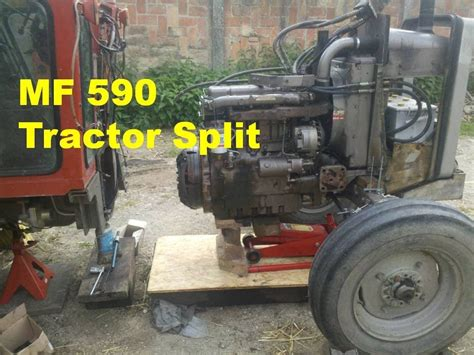 Box Bell M 1100 mf 590 tractor split clutch and flywheel removal