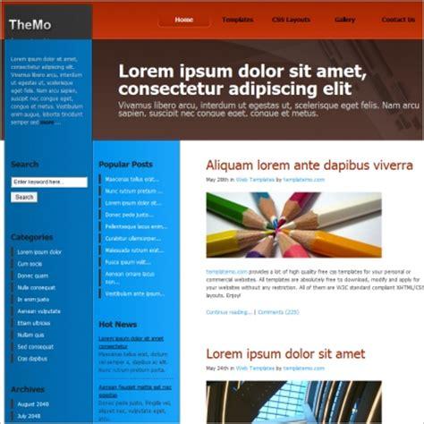 zine layout download zine blue free website templates in css html js format