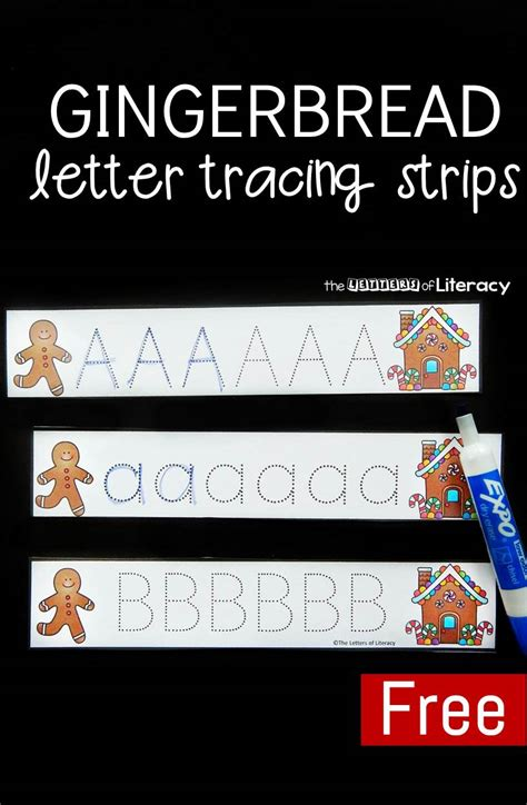 Gingerbread Letter Tracing gingerbread letter tracing strips the letters of literacy