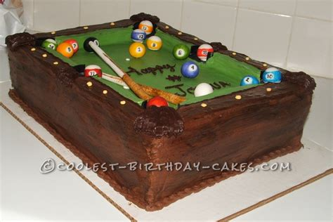 Coolest Pool Table Cake Pool Table Cake