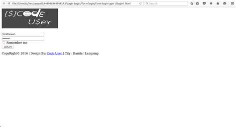 membuat form login html dan css membuat form login menggunakan html dan css code user