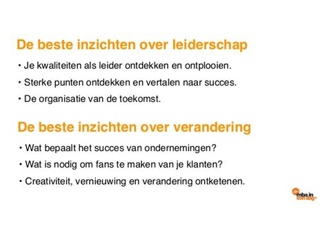Mba Handout by Mba In Een Dag Special 6 November Handout