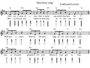 The skye boat song tin whistle sheet music irish folk songs