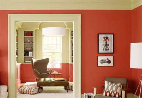 benjamin moore pantone red orange and gray brown room from benjamin moore