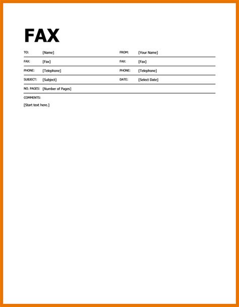 template for fax cover sheet gallery of fax attention