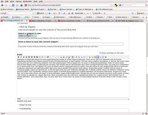 drupal theme node edit form mark up snippets drupal org