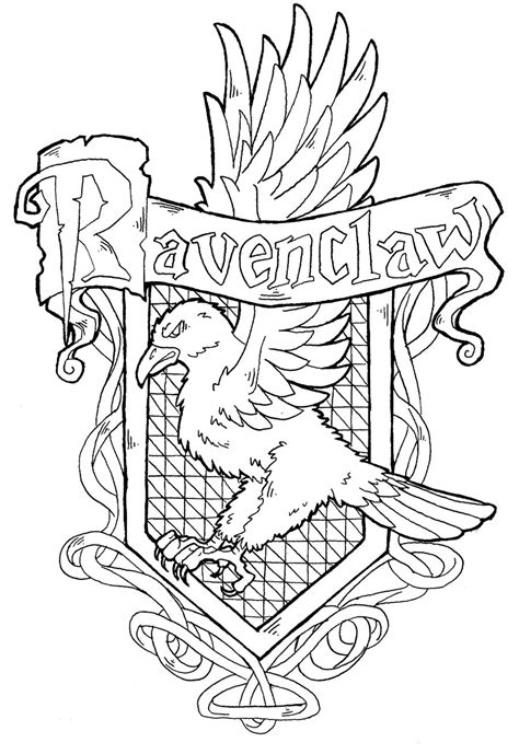 harry potter coloring pages gryffindor ravenclaw crest by yami shinen deviantart com harry