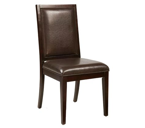 Leather Side Chair Dreamfurniture Jackson Faux Leather Side Chair Set