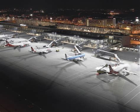 ewo illuminazione stuttgart airport airports and logistics ewo is light