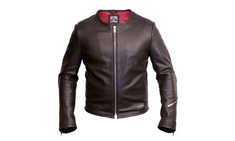 perforated leather motorcycle jacket 1 4 mile leather jacket by angry lane