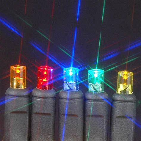 50 wide angle multi led mini christmas lights sets 11 feet