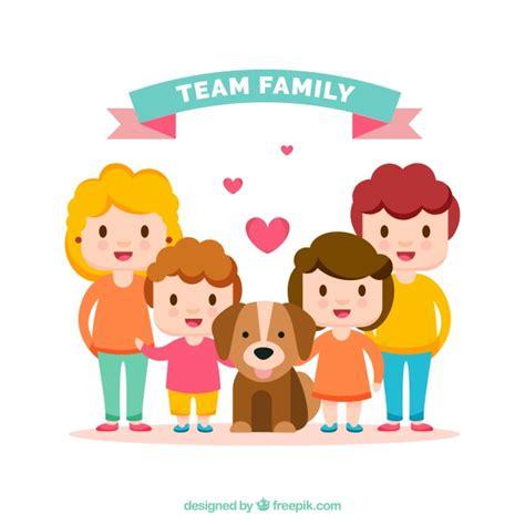 imagenes abstractas de la familia fondo de feliz familia con un perrito descargar vectores