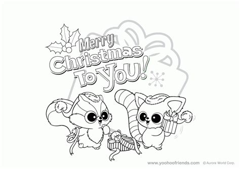 yoohoo friends christmas colouring pages coloring home