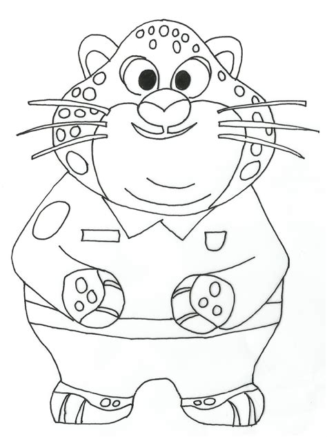 coloring page of zootopia free printable zootopia coloring pages