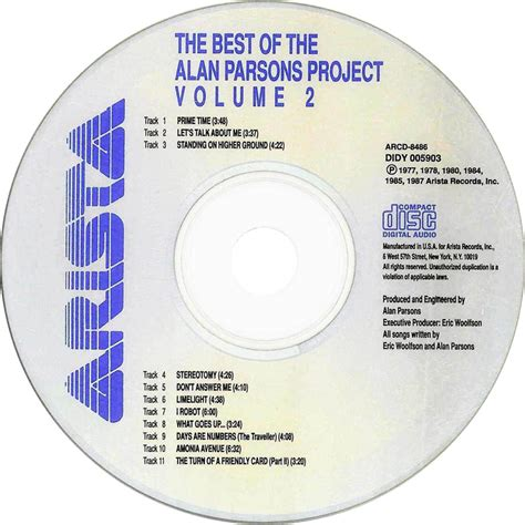 alan parsons project the best of car 225 tula cd de the alan parsons project the best of the
