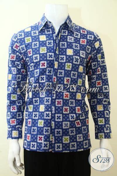 Jaket Anak Warna Biru Keren kemeja batik lengan panjang warna biru motif keren terkini