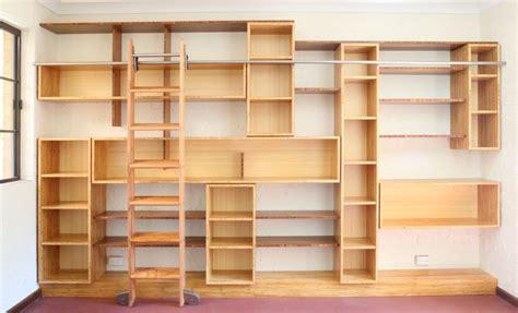 bookshelves ladder select custom joinery bamboo bookshelves with ladder