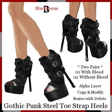 steel toe high heels second marketplace steel toe
