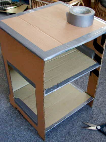 Make Your Own Paper Mache - make your own papier mache nightstand furniture paper