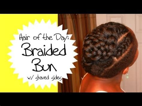 braided styles up do for shaved hair on the sides braided updo with shaved sides on natural hair hotd