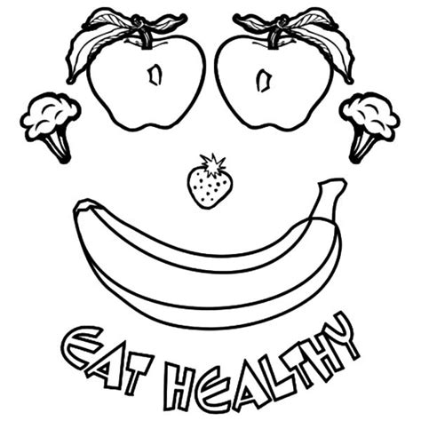 list healthy food coloring page kids coloring pages