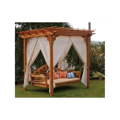 cedar pergola swing bed 8 x 8 unfinished western cedar pergola set pergola