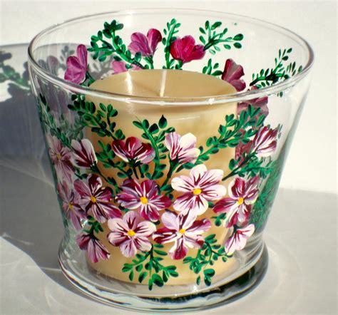 Candle Dish Holder Painted Candle Holder Dish On Luulla