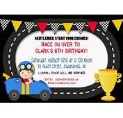 Race Car Birthday Invitations  PlumegiantCom