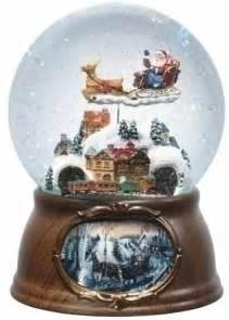 musical rotating santa claus with train christmas snow