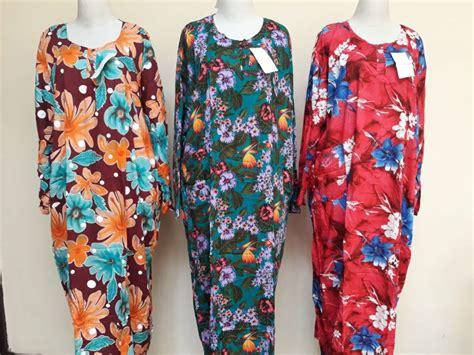 Longdress Jumbo Lowo Tulip Dress Daster Baju Tidur pusat grosir daster longdress jumbo dewasa murah bandung