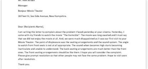Complaint Letter About School Facilities Complaint Letter About Unclean Facilities Writeletter2