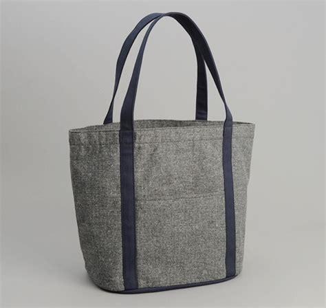 Big Grey Tweed Bag From Promod by Cotton Herringbone Tweed Heavy Duty Tote Bag Grey