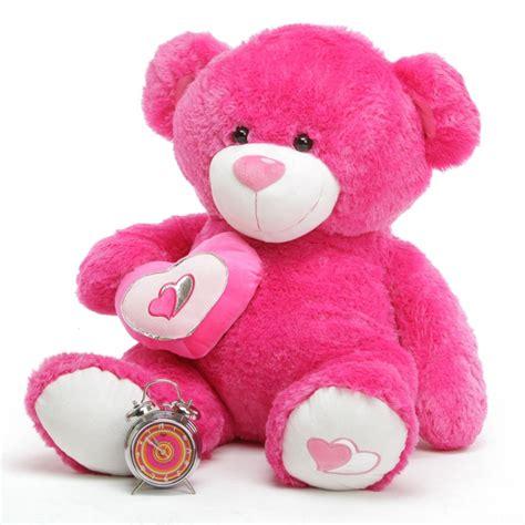 "ChaCha Big Love 42"" Hot Pink Valentine Teddy Bear - Giant ... Giant Pink Teddy Bear"