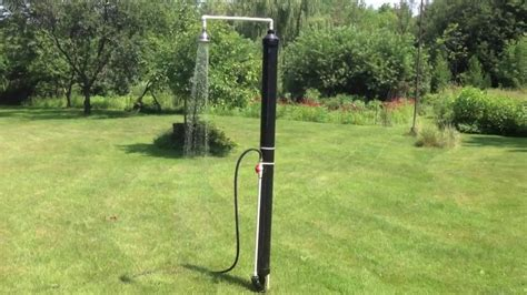 outdoor solar shower diy outdoor solar shower by luc courchesne 07 2013 on vimeo