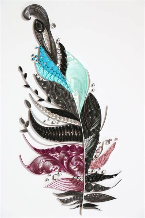 paper quilling peacock feather tutorial paper quilling feather http blog naver com 101kaikei