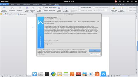 format wps adalah linux on mars aplikasi perkantoran di linux