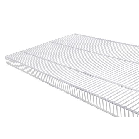 white wire rack shelving shop rubbermaid tightmesh 4 ft l x 20 in d white wire