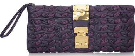Plisse Wristlet by Miu Miu Plisse Leather Clutch Purseblog