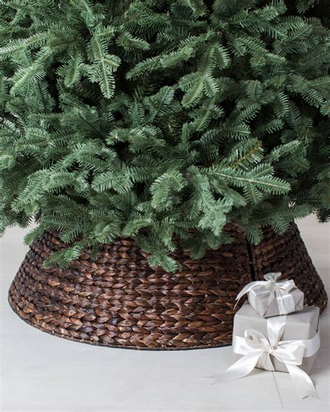 Artificial Tree For Home Decor woven tree collar balsam hill