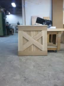 half barn door baby gate made from left hardwoods in
