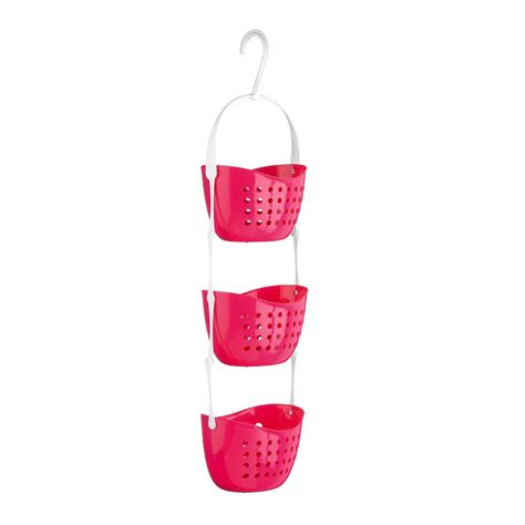 hanging baskets in bathroom 3 tier plastic shower caddy bath rack hanging basket unit shower tidy organiser ebay