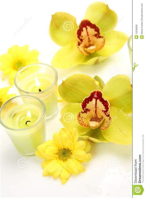 immagini candele e fiori fiori e candele immagine stock libera da diritti