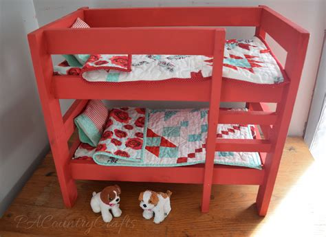 american doll bunk beds diy doll bunk beds pa country crafts