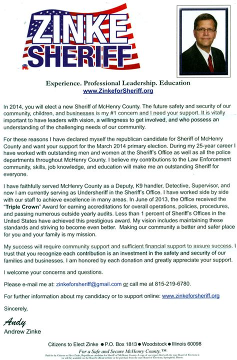 Fundraising Pitch Letter Zinke Asks Skinner For Caign Contribution Mchenry