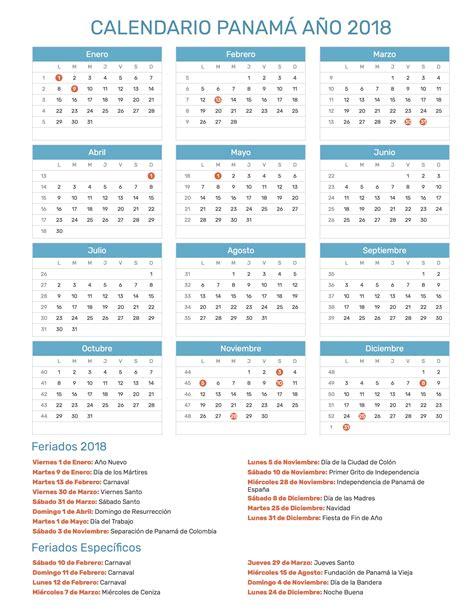 calendario panam 225 a 241 o 2018 feriados