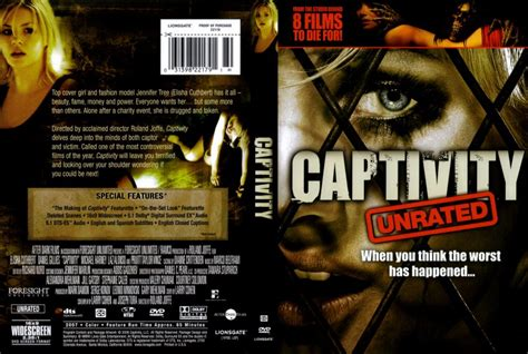 captivity dvd scanned covers captivity dvd covers