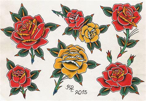 traditional rose tattoo flash pin on tatta tat tat