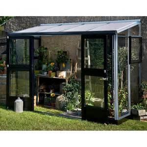 serre veranda adoss 233 e 4 4m 178 aluminium laqu 233 anthracite et