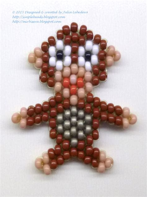bead patterns for beginners beading for the beginners beaded monkey in brick stitch