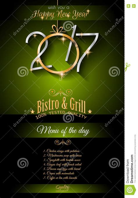 new year restaurant 2017 happy new year restaurant menu template background